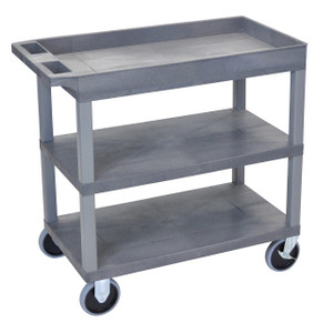 Luxor EC122HD 18x32 Gray Cart 2 Flat with 1 Tub Shelf