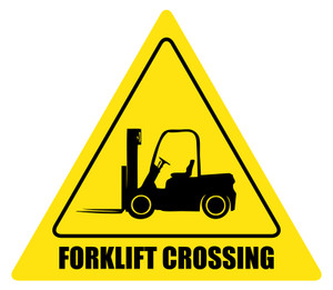 Forklift Crossing Custom Sign
