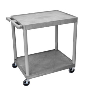Luxor 2 Shelf Utility Cart Gray