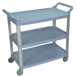 Luxor Large 3 Shelf Gray Serving Cart