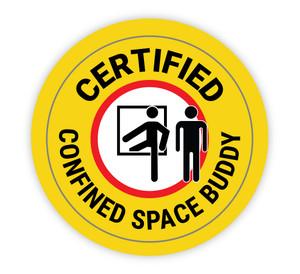 Certified Confined Space Buddy - Hard Hat Sticker