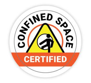 Confined Space Certified - Hard Hat Sticker