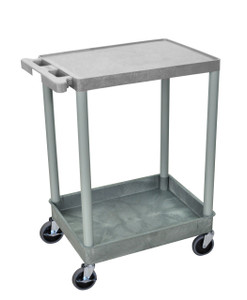 Luxor 2 Shelf Gray Tub Cart