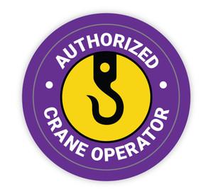 Authorized Crane Operator Purple - Hard Hat Sticker