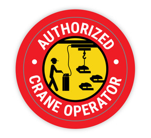 Authorized Crane Operator Red - Hard Hat Sticker