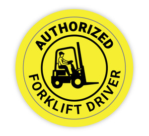 Authorized Forklift Driver - Hard Hat Sticker