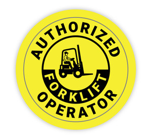 Authroized Forklift Operator - Hard Hat Sticker