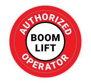 Authorized Boom Lift Operator - Hard Hat Sticker