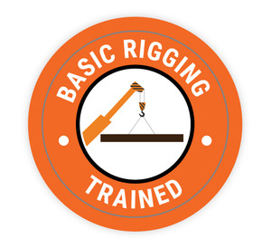 Basic Rigging Trained - Hard Hat Sticker