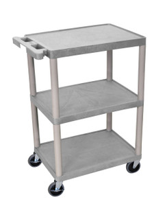 Luxor 3 Shelf Gray Cart