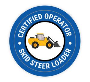 Certified Operator Skit Steer Loader - Hard Hat Sticker