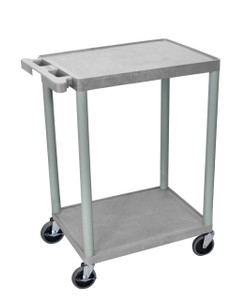 Luxor 2 Shelf Gray Cart