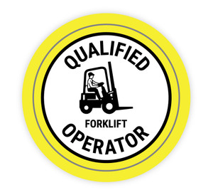 Qualified Forklift Operator - Hard Hat Sticker