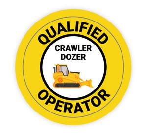 Qualified Operator Crawler Dozer Operator - Hard Hat Sticker