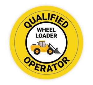 Qualified Wheel Loader Operator - Hard Hat Sticker