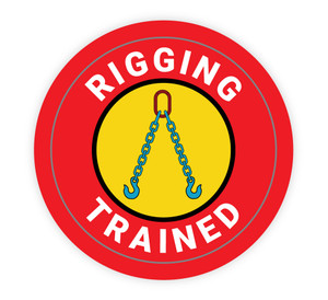 Rigging Trained - Hard Hat Sticker