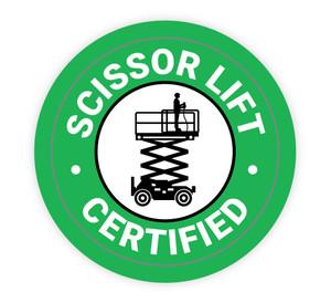 Scissor Lift Certified - Hard Hat Sticker