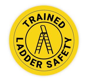 Trained Ladder Safety - Hard Hat Sticker