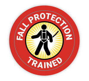 Fall Protection Trained - Hard Hat Sticker