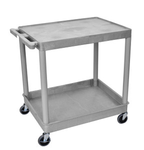 Luxor 2 Shelf Large Gray Tub Cart