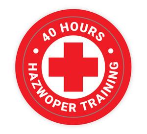 40 Hours Hazwoper Training - Hard Hat Sticker