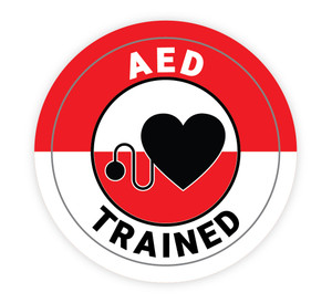 AED Trained - Hard Hat Sticker