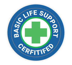 Basic Life Support Certified - Hard Hat Sticker