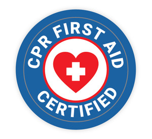 Basic Life Support Certified Blue with Icon - Hard Hat Sticker