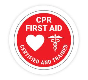 CPR Certified - Hard Hat Sticker