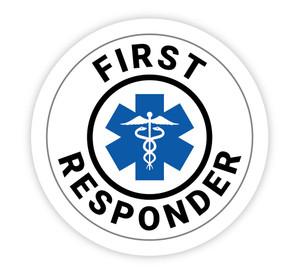 First Responder - Hard Hat Sticker