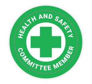 Health and Safety Committee Member - Hard Hat Sticker