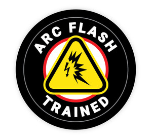 Arc Flash Trained - Hard Hat Sticker