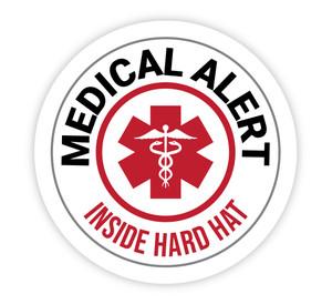 Medical Alert Inside of Hard Hat - Hard Hat Sticker