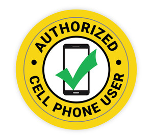 Authorized Cell Phone User - Hard Hat Sticker