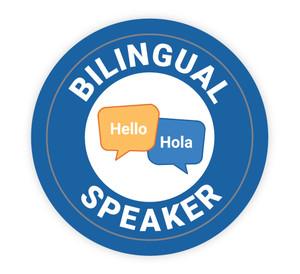 Bilingual Speaker - Hard Hat Sticker