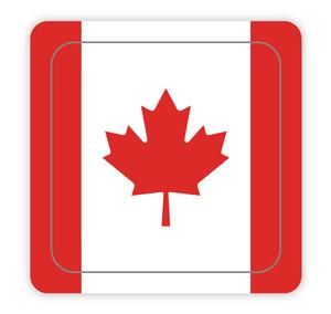 Canada Flag Square - Hard Hat Sticker