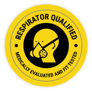 Respirator Qualified Medically Evaluated and Fit Tested - Hard Hat Sticker