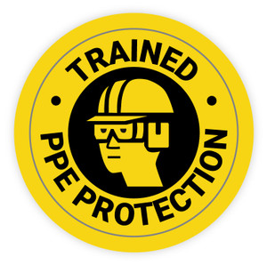 Trained PPE Protection - Hard Hat Sticker