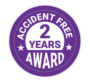 Accident Free Award 2 Years - Hard Hat Sticker