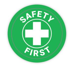 Safety First Green - Hard Hat Sticker