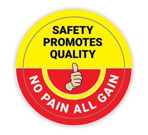 Safety Promotes Quality - Hard Hat Sticker