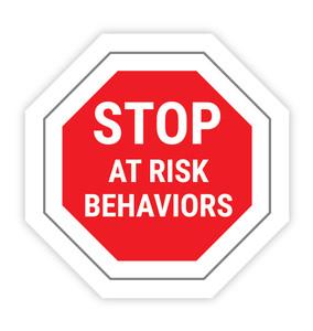 Stop At Risk Behaviors - Hard Hat Sticker