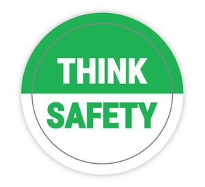 Think Safety - Hard Hat Sticker