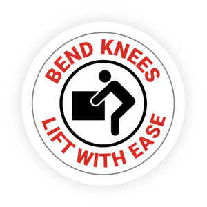 Bend Knees - Lift with Ease - Hard Hat Sticker