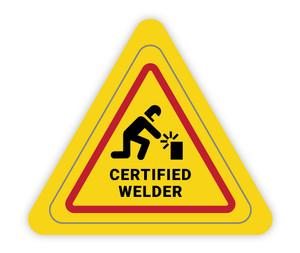 Certified Welder Triangle - Hard Hat Sticker