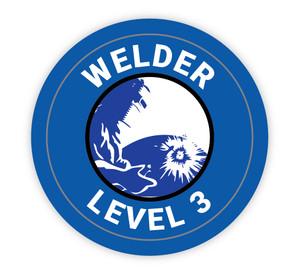 Welder Level 3 - Hard Hat Sticker