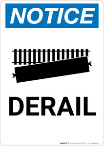 Notice: Derail with Icon Portrait - Wall Sign