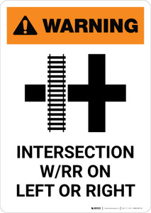 Warning: Read the Switch Points - Left-Hand Switch ANSI Portrait - Wall Sign