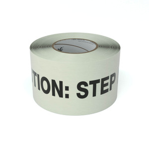 SafetyTac® Glow Caution: Step Down - Inline Printed Floor Marking Tape