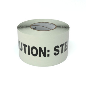 SafetyTac® Glow Caution: Step Up - Inline Printed Floor Marking Tape
